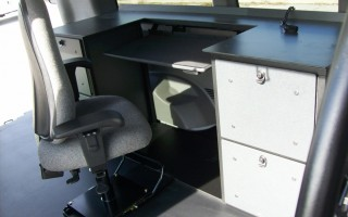 Mobile Office Workstation for a Van
