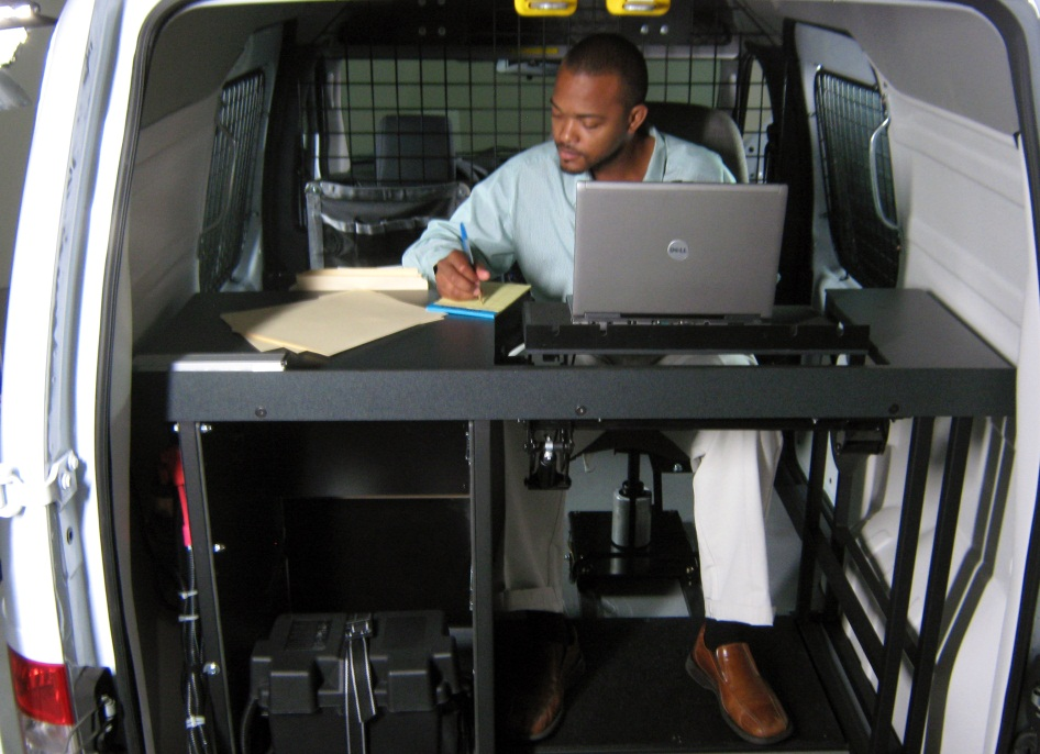 Mobile Office Workstation Systems For Fleet Vehicles