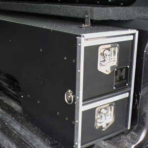Wheel Well Storage Drawers for Pickup Trucks