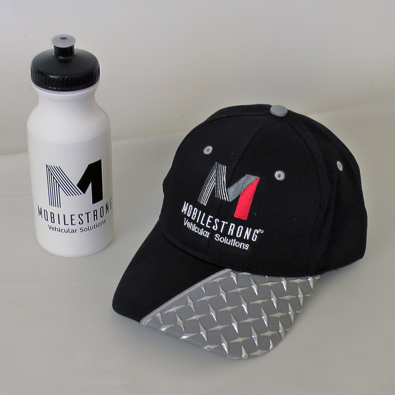 Top Our Gift to You - Free Water Bottle and Hat | MobileStrong GJ75